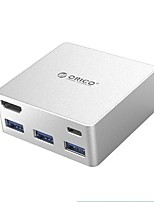 ORICO ADS4  HUB Type-C Docking Station USB-C To HDMI / Audio / Converter USB 3.0 Super Speed 2 Ports 5.0 Gbps with 0.5m Cable
