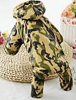 Chien Imperméable Vêtements pour Chien Décontracté / Quotidien Sportif Mode Animal Rouge Vert