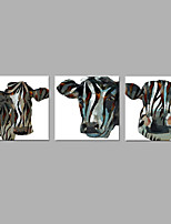 IARTS® Hand Painted Oil Painting Farmhouse Cow Triptych Wall Art Acrylic Canvas Wall Art For Home Decoration