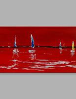 Handgemalte Landschaft Horizontal,Künstlerisch Abstrakt Retro Ein Panel Leinwand Hang-Ölgemälde For Haus Dekoration