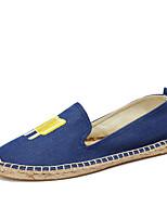 Damen Loafers & Slip-Ons Leuchtende Sohlen Mokassin Espadrillas Baumwolle Denim Jeans Sommer Herbst Normal Party & FestivitätLeuchtende
