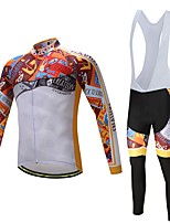 Cycling Jersey with Bib Tights Unisex Long Sleeves Bike Clothing Suits Ventilation Quick Dry Spandex Polyester LYCRA® Silicon Autumn