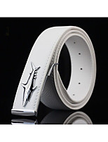 Men's joker litchi grain belt shark edge smooth belt buckle fashion leisure belt