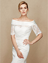 Women's Wrap Shrugs Lace Satin Wedding Party/ Evening Lace
