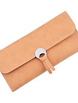 Women Checkbook Wallet PU Polyester All Seasons Shopping Daily Casual Rectangle Snap Black Ginger Aquamarine Coffee Dark Coffee