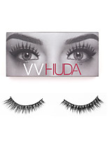 VVHUDA Eyelash 100% Hand Made False Eyelashes Upper 3D Elongated Realistic Light Messy Mink Hair Makeup Strip Sasha