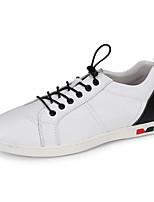 Da uomo Sneakers Comoda Di pelle Pelle Estate Autunno Casual Comoda Bianco Piatto