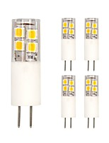 3W LED à Double Broches T 19 SMD 2835 200 lm Blanc Chaud Blanc Froid V 5 pièces
