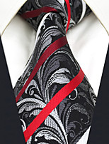 CXL26 New Extra Long For Men Ties Gray Stripes Paisley 100% Silk Handmade Classic