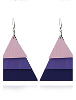 Women's Dangle Earrings Jewelry Geometric Euramerican Simple Style Wood Triangle Shape Jewelry For Gift Outdoor clothing