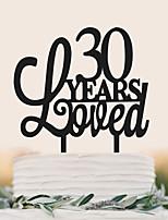 Manufacturers direct sales of acrylic English letter cake wedding cake decoration