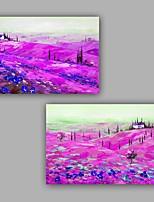 Ручная роспись Абстракция Горизонтальная,Художественный Абстракция Ар деко / Ретро Гламур Классика На каждый день Гламурный и эффектный