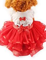 Katze Hund Kleider Smoking Hundekleidung Party Lässig/Alltäglich Hochzeit Schleife Gelb Rot Grün