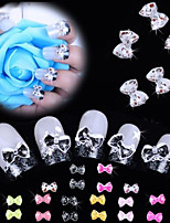 Mixed Colors Nail Bow Tie Rhinestone Acylic Glitter Nail Resin Leopard Decoration Cell phone DIY Decoration