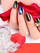 Pinpai New 12 Colour A Single Nail art Powder Brocade Chameleon Transparent Powder Fireworks Stars Glitter Mirror Gold Plating Color Powder