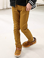 Boys' Stylish And Cool Comfortable Cotton Comfortable Pure Color Tatting And Stretch Slacks Trousers