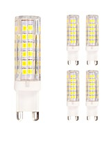 5W G9 LED Bulb for Crystal Chandelier/Wall Lamp 75 SMD 2835 400 lm Warm/Cool White AC220-240V (5 pcs)