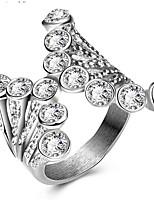 女性用 指輪石座 バンドリング 指輪 キュービックジルコニアベーシック ユニーク アニマルデザイン 友情 セクシー ファッション 愛らしいです あり かわいいスタイル 欧米の 映画ジュエリー 高級ジュエリー シンプルなスタイル アメリカ ブリティッシュ クラシック