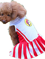 Dog Dress Dog Clothes Casual/Daily Stripe Ruby