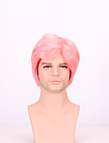 Fashion Sexy Women Straight Hair Short Bob Wigs Pink Color Cosplay Synthetic Wigs