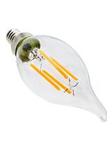 1 pcs YWXLight® Dimmable LED Bulb E12 CA35 4W Glass Shell 360 Degree Vintage LED Candle Light Edison LED Filament Lamp AC 110-130V