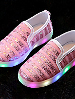 Girls' Sneakers Light Up Shoes Comfort Leatherette Summer Fall Athletic Casual Outdoor Walking Light Up Shoes Comfort Magic Tape LEDFlat