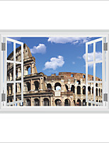 Architecture Cartoon History Wall Stickers Plane Wall Stickers 3D Wall Stickers Decorative Wall Stickers,Vinyl Material Home Decoration