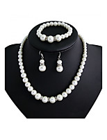 Women's Jewelry Set Imitation Pearl Luxury Imitation Pearl Rhinestone Alloy Round For Wedding Party Special Occasion Anniversary Birthday