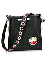 Women Shoulder Bag PU All Seasons Casual Outdoor Round Zipper Red Black Green