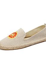 Damen Loafers & Slip-Ons Leuchtende Sohlen Mokassin Espadrillas Baumwolle Leinen Sommer Herbst Normal Party & FestivitätLeuchtende Sohlen