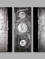 Dipinta a mano Astratto Verticale,Artistico Tre Pannelli Tela Hang-Dipinto ad olio For Decorazioni per la casa