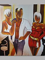 Ручная роспись Люди Художественный 1 панель Холст Hang-роспись маслом For Украшение дома