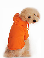 Dog Hoodie Dog Clothes Casual/Daily Solid Black Orange Gray Red
