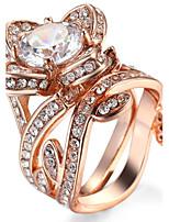 Жен. Ложе камня Классические кольца Кольцо Цирконий СтразыБазовый дизайн Уникальный дизайн Животный дизайн Стразы Простой стиль США