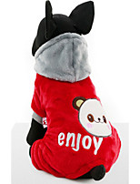 Dog Hoodie Dog Clothes Casual/Daily Cartoon Blue Ruby