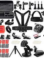 QQT for Gopro accessories 48 in 1 for Gopro 5 4 3with Chest Harness/Suction Cup for xiaomi yi SJCAM action camera