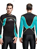 SBART Herrn 2mm Neopren- Elastan Chinlon Taucheranzug Langarm Tauchanzüge Oberteile-Wassersport Tauchen Surfen Ganzjährig Druck