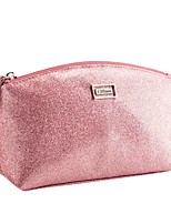 Women Cosmetic Bag PU All Seasons Casual Baguette Zipper Blushing Pink Red Gold Blue