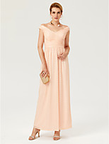 2017 TS Couture Formal Evening Dress - Sparkle & Shine Sheath / Column Off-the-shoulder Ankle Length Sequined with Pleats Criss Cross Ruching