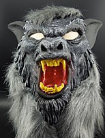 Горячая маска для волка для животных с латексной звездой с волосами Хэллоуин, причудливый страшный костюм, ужас, анонимные маски для лица