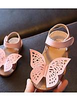 Girls' Flats Comfort First Walkers Cowhide Spring Fall Casual Walking Comfort First Walkers Magic Tape Low Heel Blushing Pink Yellow White