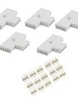 4-pins T-shape 3-ends Female Connector for LED RGB 5050 Flex Strip Light (T Shape)