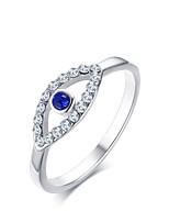 Damen Ring Saphir Kubikzirkonia bezaubernd Elegant Platin Kubikzirkonia Titanstahl Geometrische Form Schmuck FürHochzeit Party Verlobung