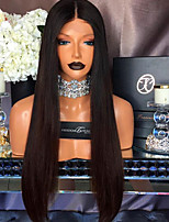 9A Grade Lace Front Wigs Human Straight Hair for Black Woman 130% Density Brazilian Virgin Hair Glueless Lace Wig with Baby Hair
