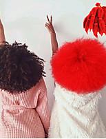 Afro verworren Zöpfe Locken Afro Kanekalon Dunkeles Rotbraun Dunkle Wein Burgund Schwarz Mittelbraun Haarverlängerungen 8 Zoll Haar Borten