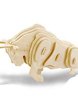 Puzzles Kit de Bricolage Puzzles 3D Puzzles en Métal Blocs de Construction Jouets DIY  Animal Bois Naturel