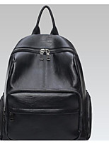 Women Backpack Polyester All Seasons Casual Round Zipper Black