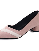 Women's Heels Comfort Summer PU Walking Shoes Casual Low Heel Black Yellow Blushing Pink 1in-1 3/4in