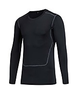 Men's Running T-Shirt Long Sleeves Fitness, Running & Yoga Compression Clothing Tops for Running/Jogging Exercise & Fitness Leisure Sports