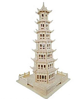 Пазлы 3D пазлы Строительные блоки Игрушки своими руками Круглый Натуральное дерево